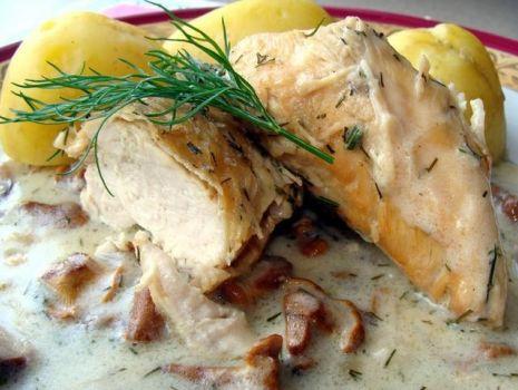Przepis: Filet z kurczaka w kurkach