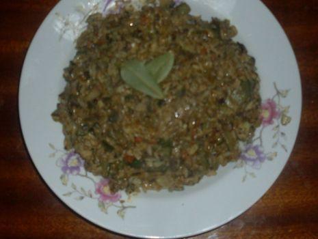 Przepis: Risotto z sosem śmietanowo-ziołowym