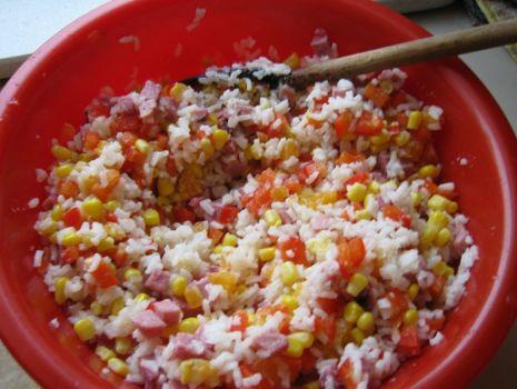 Przepis: Sałatka z ryżem