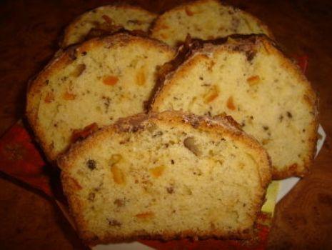 Przepis: Pomaranczowo-orzechowe ciasto