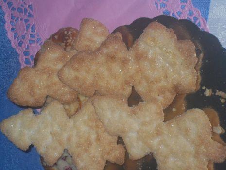 Przepis: Maślano kruche  ciasteczka - choinki