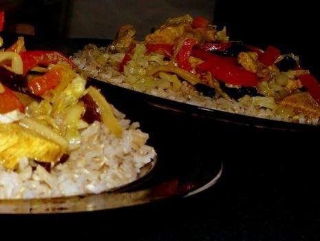 Przepis: Orientalny kurczak z warzywami