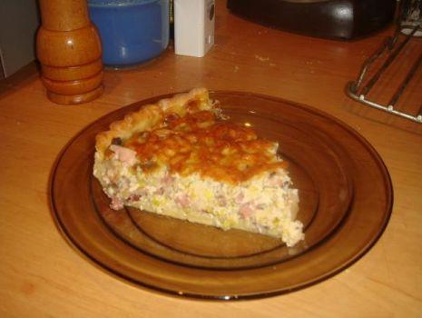 Przepis: tarta mięsno - porowa