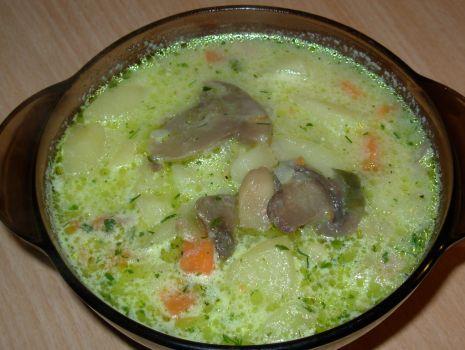 Przepis: Zupa warzywno - grzybowa