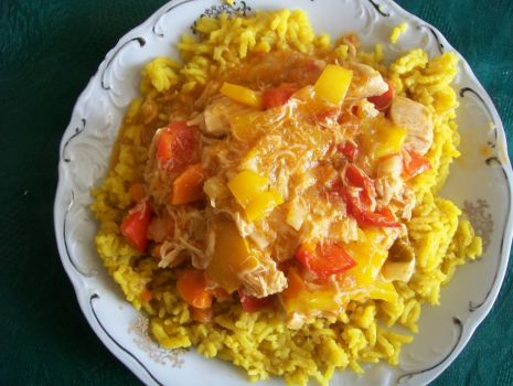 Przepis: Ryż curry z kurczakiem i warzywami