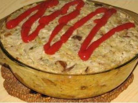 Przepis: Zapiekanka ziemniaczana z grzybami i kapustą
