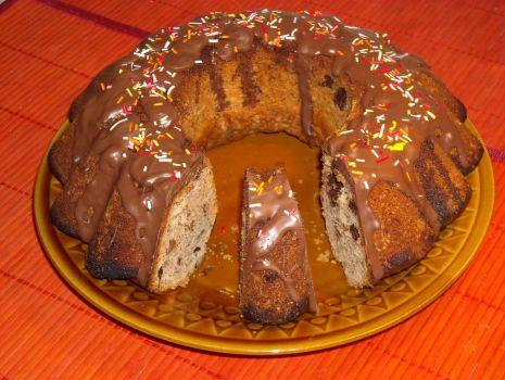 Przepis: Babka orzechowo-czekoladowa