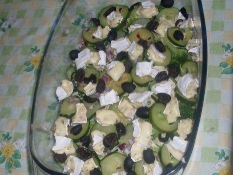 Przepis: Zapiekanka z cukinią i brokułami