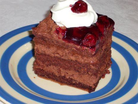 Przepis: Ciasto dla dorosłych pijana wiśnia
