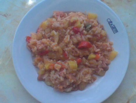 Przepis: Risotto z wieprzowiną i warzywami