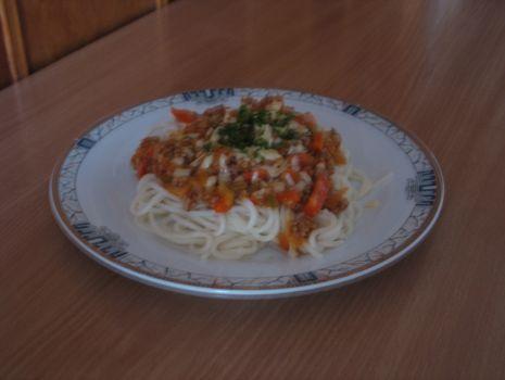 Przepis: Spagetti z ananasem