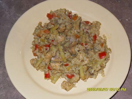 Przepis: ryż z warzywami i kurczakiem