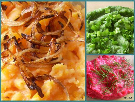 Przepis: Kolorowe purre ziemniaczane