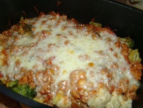 Przepis: Warzywa zapiekane z sosem bolognese