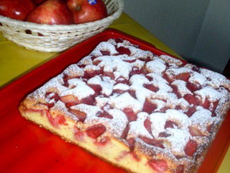Przepis: Ciasto ucierane z truskawkami