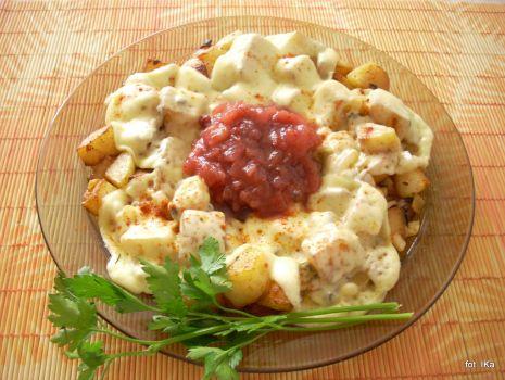 Przepis: Ziemniaki smażone z oscypkiem