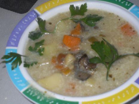 Przepis: Zupa ze świeżych  grzybów