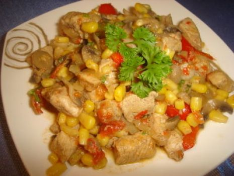 Przepis: Orientalna potrawka z kurczaka