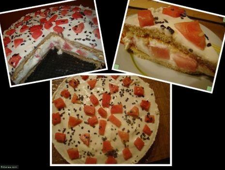 Przepis: Tort arbuzowy