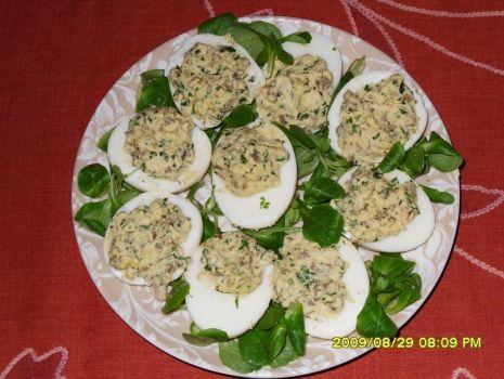Przepis: jajka faszerowane ( z pieczarkami)
