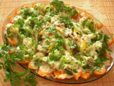 Przepis: Zapiekany półmisek warzyw