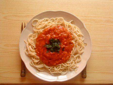 Przepis: Spaghetti a'la Gyros