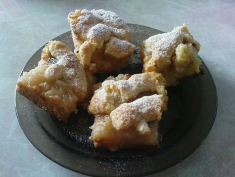 Przepis: Ciasto kruche z musem jabłkowym