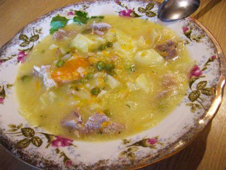 Przepis: Zupa jarzynowa z groszkiem