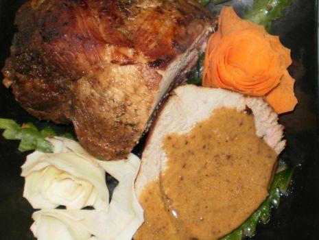 Przepis: Wieprzowina w sosie śliwkowo-cebulowym z Garnka rzymskiego :