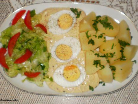 Przepis: Jajka w sosie musztardowym :