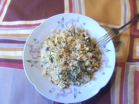 Przepis: ryż ze szpinakiem