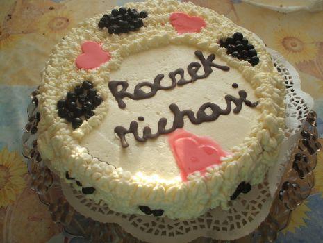 Przepis: Tort jagodowy z bita śmietaną dla Michasi