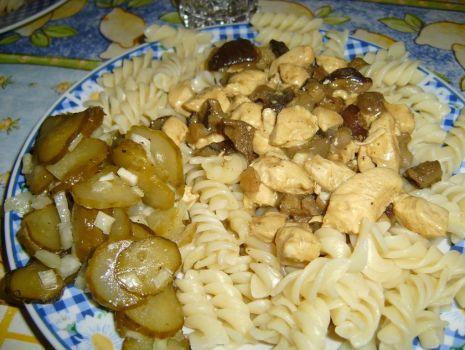 Przepis: Drób w sosie grzybowym
