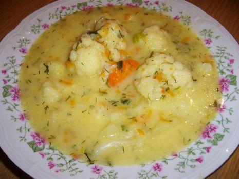 Przepis: Zupa kalafiorowa bez mięsa pyszna