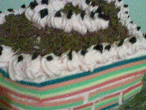 Przepis: Tort kolorowe serduszko