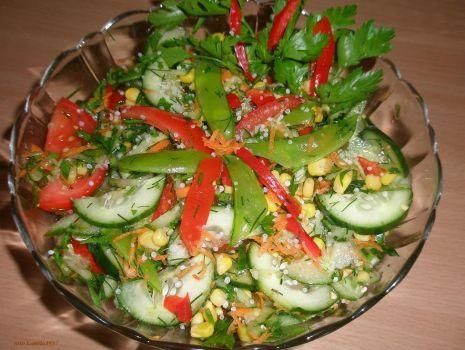 Przepis: warzywna sałatka