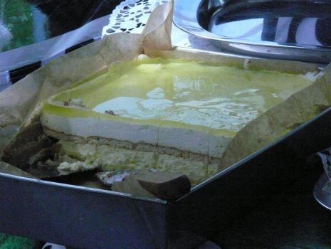Przepis: Ciasto rajskie mleczko cytrynowe