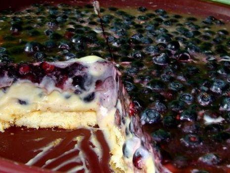 Przepis: Jagodowy torcik