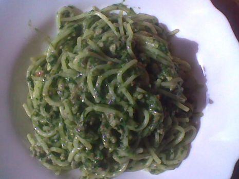 Przepis: Szpinakowe Spaghetti