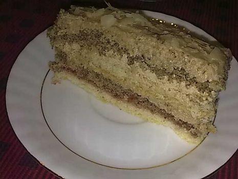 Przepis: Ciasto tortowe kawowe