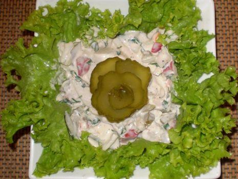 Przepis: Śledź marynowany w sosie majonezowo-śmietanowym :