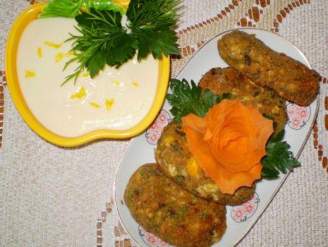 Przepis: Kotlety jajeczno-pieczarkowe :