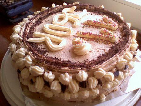Przepis: Tort waniliowo- kawowy.