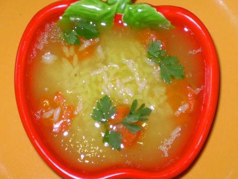 Przepis: Zupa ryżowa wg Babcigramolki :