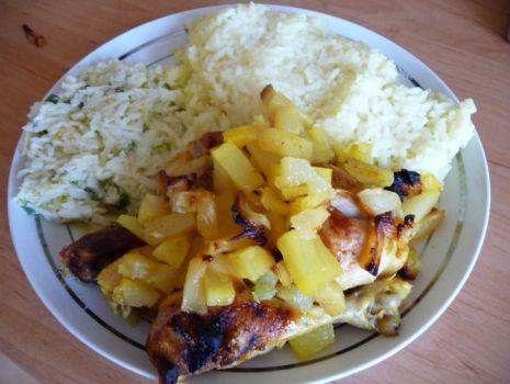Przepis: Kurczak z ananasem