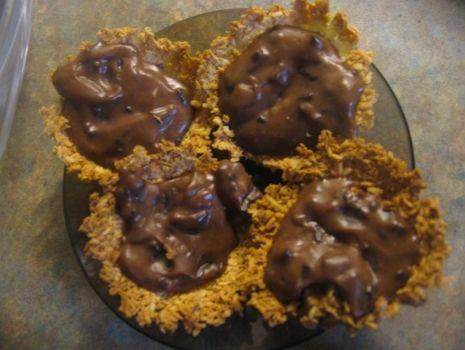 Przepis: kokosowe tartinki z czekoladą w 15 minut
