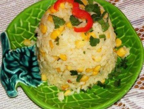 Przepis: Ryż imbirowy z kukurydzą :