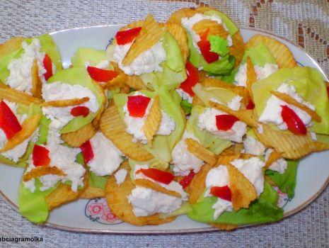 Przepis: Kanapki z Fetą na chipsach :