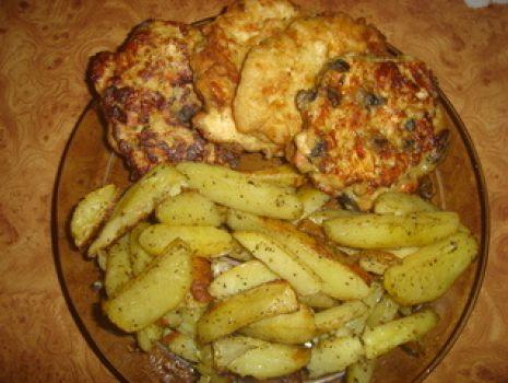 Przepis: Placuszki z piersi kurczaka II