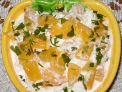 Przepis: Surówka z białej rzodkwi z mandarynkami :